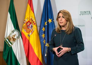 La presidenta de la Junta, Susana Díaz, ha expresado el apoyo \u0027claro e inequívoco\u0027 de Andalucía \u0027a todas las actuaciones que se están a cabo en el marco de la Constitución y de la ley para que cuanto antes se restablezca la legalidad en Cataluña\u0027.