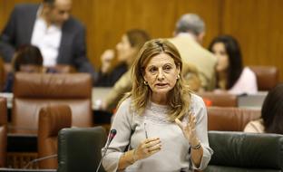 Marina Álvarez, durante la sesión de control al Gobierno.