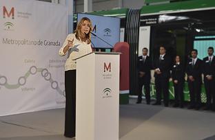 Intervención de Díaz en su visita a las instalaciones del metro de Granada