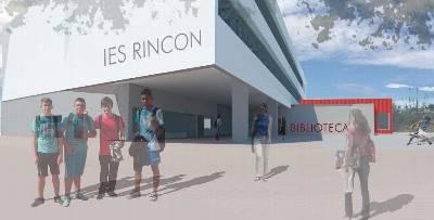 Recreación virtual del IES Rincón de la Victoria.