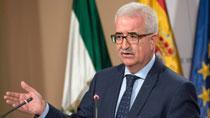El vicepresidente de la Junta de Andalucía informa del viaje institucional de Susana Díaz a Bruselas