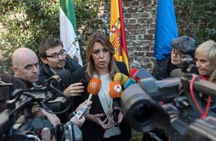 Susana Díaz reclama medidas que respalden a los productores de aceituna de mesa ante los ataques de EEUU