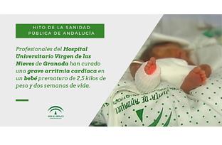 Animación sobre la ablación cardiaca que ha curado a un bebé prematuro de 2,5 kilos en el Hospital Virgen de las Nieves de Granada