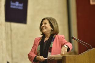 María José Sánchez Rubio en la sesión plenaria del Parlamento.