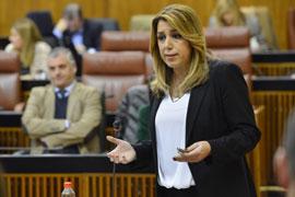 La presidenta de la Junta, durante su intervención.