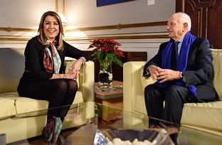 Recepción de la presidenta de la Junta al consejero real de Mohamed VI de Marruecos