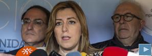 Susana Díaz defiende la recuperación de derechos y la estabilidad laboral de los empleados públicos