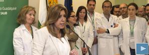 Susana Díaz cifra la satisfacción ciudadana con los hospitales de alta resolución por encima del 95%