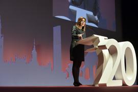Susana Díaz, durante su intervención.