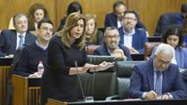 Susana Díaz valora que Andalucía volvió a cumplir el objetivo de déficit en 2016, con un 0,65% del PIB