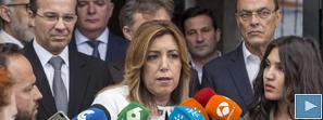 Susana Díaz valora que en Andalucía crece el empleo y baja el paro a pesar de que el Gobierno se