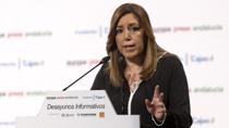 La presidenta de la Junta presenta a Juan Pablo Durán en los Desayunos Informativos de Europa Press Andalucía