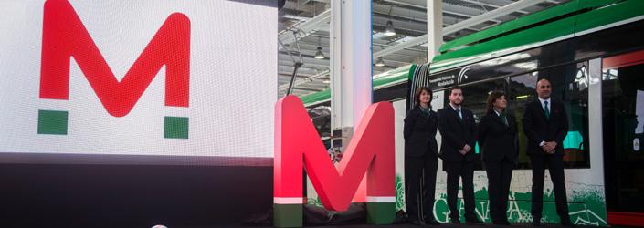 Presentación de la imagen corporativa del metro de Granada.