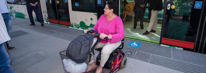 El metro de Granada responde al principio de accesibilidad universal.