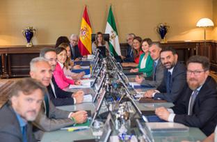 Reunión del primer Consejo de Gobierno tras la remodelación del Ejecutivo.