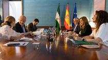 Reunión entre Susana Díaz y Pierre Moscovici