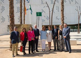 Díaz supervisó la Ciudad de la Justicia de Córdoba tras la recepción de la obra.
