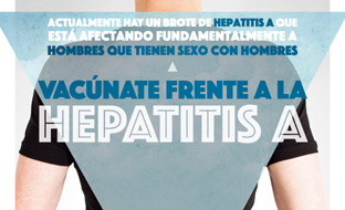 Cartel informativo de la campaña de vacunación.