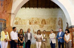 Intervención de la presidenta de la Junta en su visita al enclave arqueológico Arucci Turóbriga, en Aroche