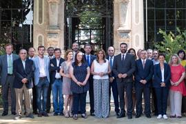 Díaz presidió el pleno del Consejo Andaluz del Turismo.