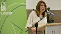 Intervención de la presidenta de la Junta en la visita al nuevo centro de salud de Bailén