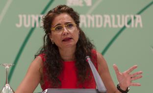María Jesús Montero, durante la rueda de prensa.