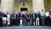 El Gobierno andaluz, en las concentraciones por los atentados de Cataluña