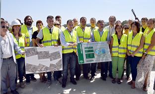 José Fiscal, con el resto de autoridades, supervisó el desarrollo de las obras de la nueva depuradora del Bajo Guadalhorce.