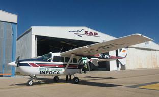 Uno de los aviones técnicos de coordinación del Infoca.
