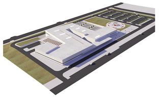 Recreación virtual del nuevo Hospital de Alta Resolución de Palma del Río (Córdoba).