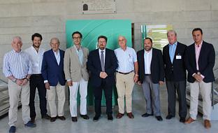 Sánchez Haro, con los representantes de Feragua.