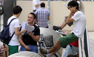 Estudiantes andaluces. (Foto EFE)