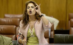 María Jesús Montero interviene en la sesión de control al Gobierno.