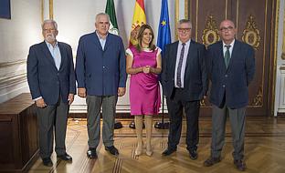 Díaz, con los representantes de las organizaciones agrarias.