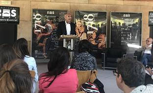 Miguel Ángel Vázquez, consejero de Cultura, durante la presentación de la nueva temporada del Teatro Central de Sevilla.