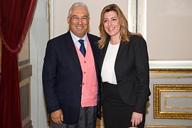 Susana Díaz, en una imagen de archivo con el primer ministro portugués, Antonio Costa, entonces alcalde de Lisboa, durante la visita oficial que realizó la presidenta de la Junta al país luso en noviembre de 2014.