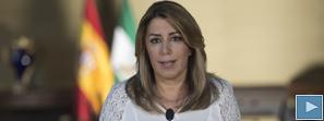 Díaz destaca que Andalucía es la primera comunidad en acordar sus presupuestos, volcados en lo social