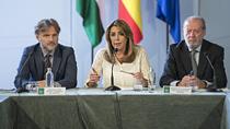 Intervención de Díaz en la firma de los contratos de construcción de 12 depuradoras