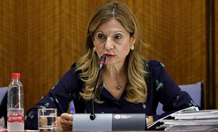 Marina Álvarez, en la Comisión de Salud del Parlamento andaluz.