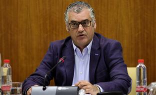 Javier Carnero, en la Comisión de Empleo, Empresa y Comercio.