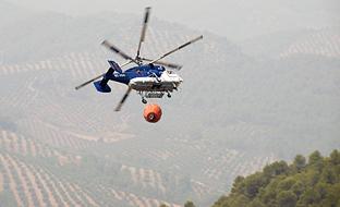 Labores de extinción del incendio de Segura de la Sierra, en agosto de 2017. (Archivo EFE)