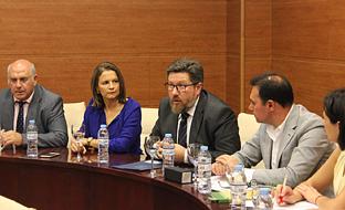 Rodrigo Sánchez Haro, durante su intervención en el encuentro mantenido con los responsables de los GDR de la provincia de Jaén.