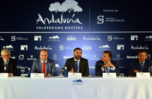 Fernández presentó el torneo Andalucía Valderrama Masters.