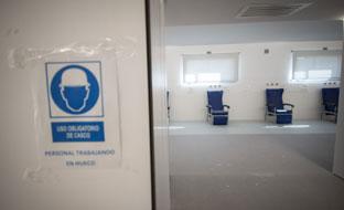 Obras en el Hospital de Rehabilitación y Traumatología de Granada.