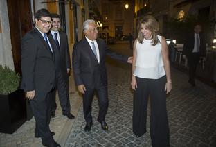 Susana Díaz y António Costa, durante su encuentro en Lisboa, donde la presidenta de la Junta de Andalucía realiza un viaje oficial.