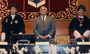 Ramírez de Arellano, en la apertura del curso académico en la Universidad de Córdoba.