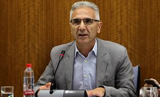 Miguel Ángel Vázquez, durante su intervención en la Comisión de Cultura del Parlamento.