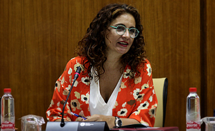 María Jesús Montero, en la Comisión de Hacienda y Administración Pública.