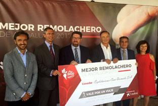 Sánchez Haro, durante la entrega del premio al mejor remolachero de Andalucía 2017.