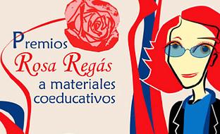 Cartel de los Premios Rosa Regás de coeducación y promoción de la igualdad en el ámbito educativo.